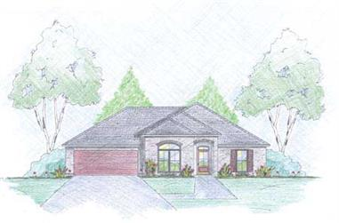 3-Bedroom, 1490 Sq Ft Small House Plans - 139-1019 - Front Exterior
