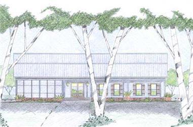3-Bedroom, 3136 Sq Ft Ranch Home Plan - 139-1020 - Main Exterior