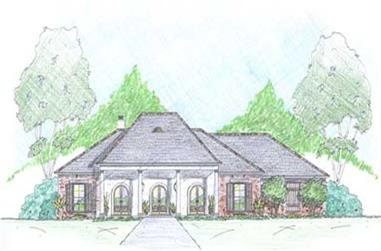 3-Bedroom, 2240 Sq Ft European House Plan - 139-1021 - Front Exterior