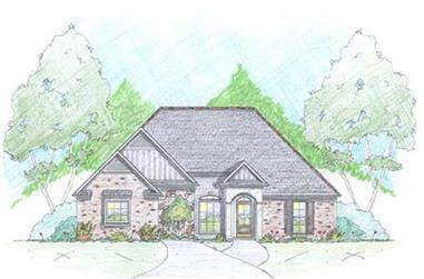 3-Bedroom, 1971 Sq Ft European House Plan - 139-1022 - Front Exterior