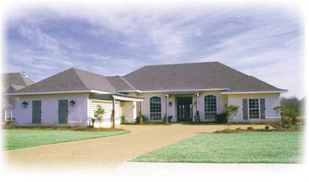 Ranch home (ThePlanCollection: Plan #139-1024)