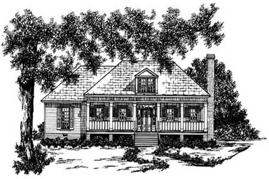 3-Bedroom, 1365 Sq Ft Farmhouse Home Plan - 139-1026 - Main Exterior