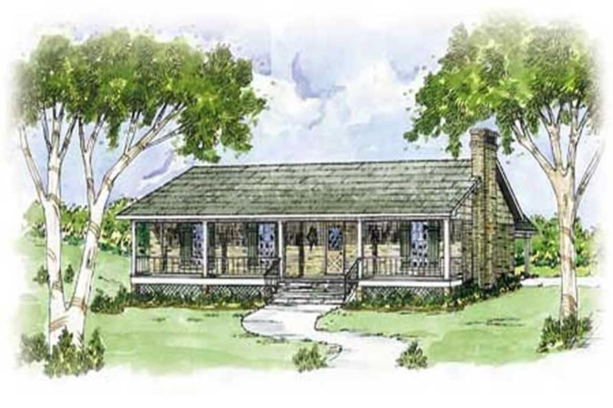 3-Bedroom, 1365 Sq Ft Country Home Plan - 139-1027 - Main Exterior