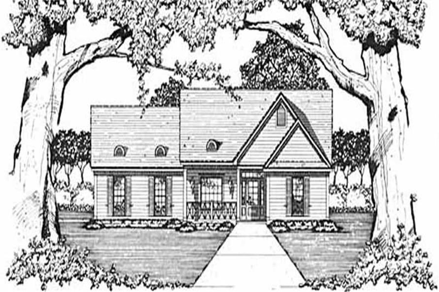 3-Bedroom, 1281 Sq Ft Country Home Plan - 139-1029 - Main Exterior