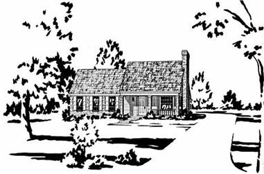 3-Bedroom, 1157 Sq Ft Small House Plans - 139-1031 - Main Exterior