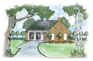 3-Bedroom, 1381 Sq Ft European Home Plan - 139-1034 - Main Exterior