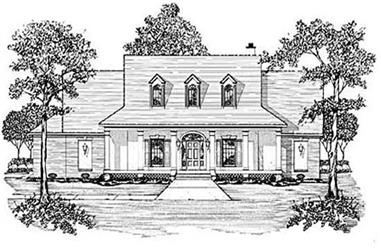 3-Bedroom, 2464 Sq Ft Colonial House Plan - 139-1035 - Front Exterior