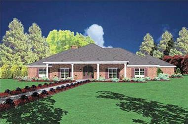 1-Bedroom, 3206 Sq Ft Ranch House Plan - 139-1036 - Front Exterior