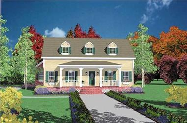 4-Bedroom, 2442 Sq Ft Country House Plan - 139-1037 - Front Exterior