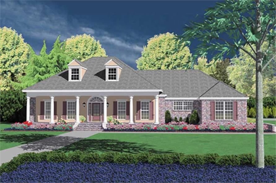 3-Bedroom, 2615 Sq Ft Colonial House Plan - 139-1040 - Front Exterior