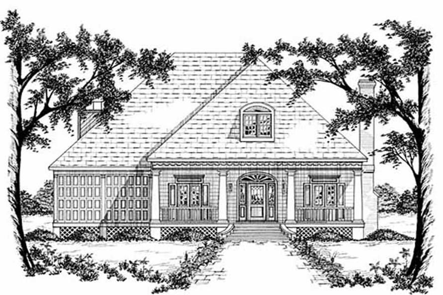 4-Bedroom, 2744 Sq Ft Country House Plan - 139-1041 - Front Exterior