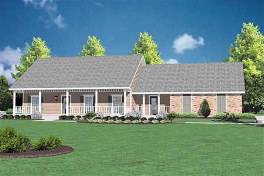 Front elevation of Country home (ThePlanCollection: House Plan #139-1042)