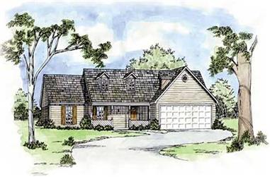 3-Bedroom, 1421 Sq Ft Small House Plans - 139-1043 - Front Exterior