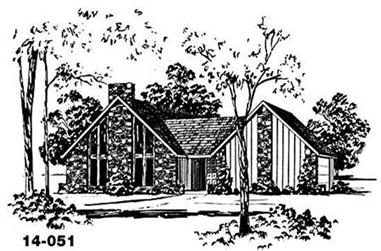 3-Bedroom, 1441 Sq Ft Contemporary Home Plan - 139-1044 - Main Exterior