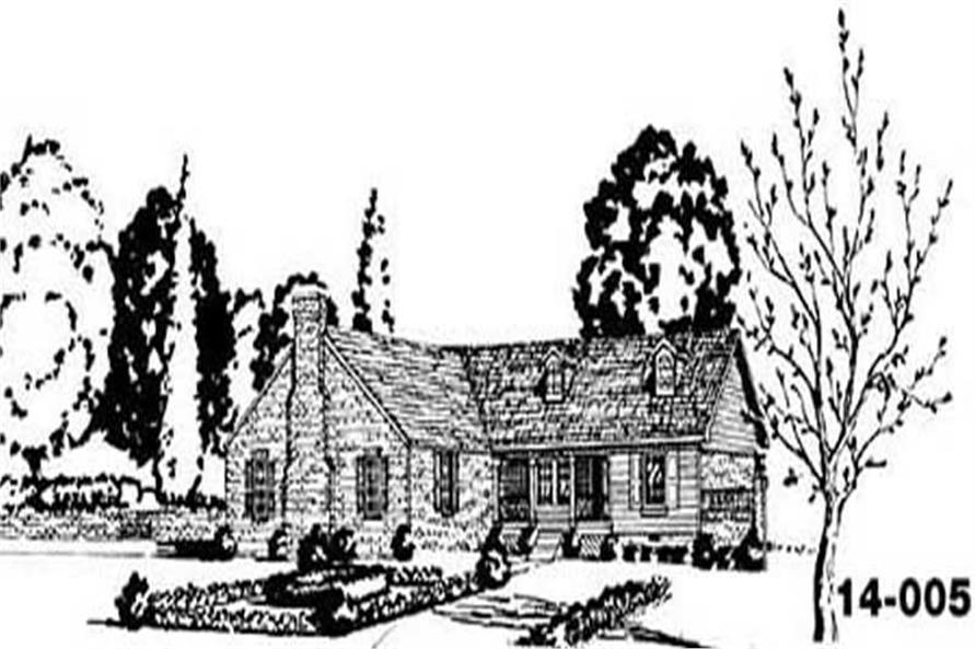 4-Bedroom, 1400 Sq Ft Ranch Home Plan - 139-1045 - Main Exterior