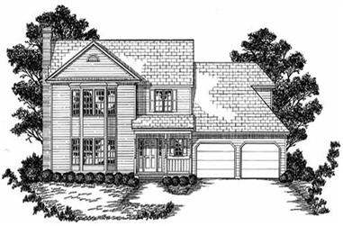 3-Bedroom, 2184 Sq Ft Country House Plan - 139-1047 - Front Exterior