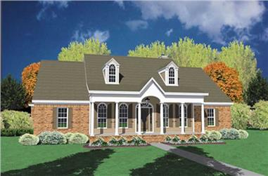 4-Bedroom, 2393 Sq Ft Colonial House Plan - 139-1048 - Front Exterior