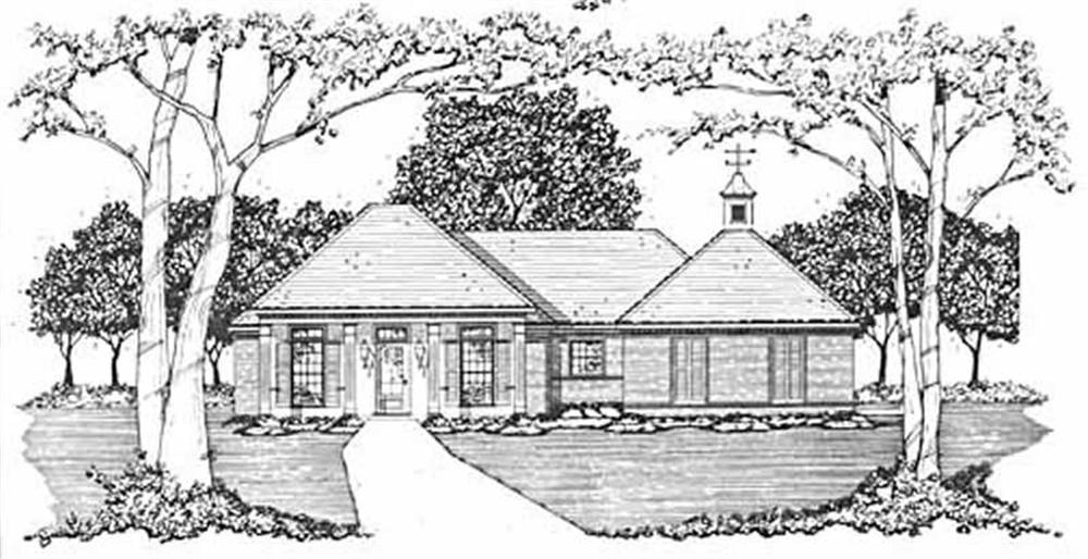 Front elevation of Country home (ThePlanCollection: House Plan #139-1050)