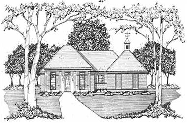 3-Bedroom, 1326 Sq Ft Country Home Plan - 139-1050 - Main Exterior