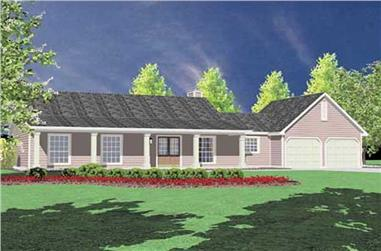 3-Bedroom, 1400 Sq Ft Ranch Home Plan - 139-1052 - Main Exterior