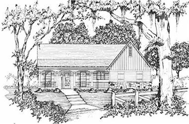 3-Bedroom, 1272 Sq Ft Country Home Plan - 139-1053 - Main Exterior
