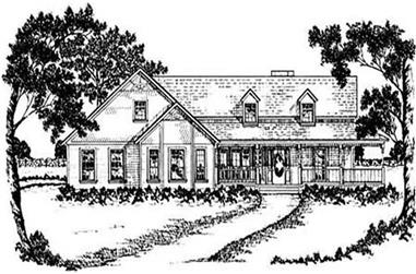 3-Bedroom, 2077 Sq Ft Country Home Plan - 139-1054 - Main Exterior