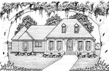 3-Bedroom, 2073 Sq Ft Colonial Home Plan - 139-1055 - Main Exterior