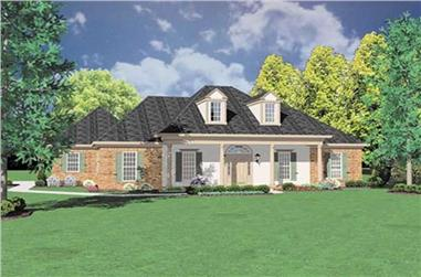 3-Bedroom, 2107 Sq Ft Colonial House Plan - 139-1057 - Front Exterior
