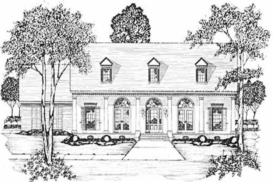 3-Bedroom, 2127 Sq Ft Colonial House Plan - 139-1058 - Front Exterior