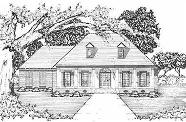 4-Bedroom, 2337 Sq Ft Colonial House Plan - 139-1060 - Front Exterior