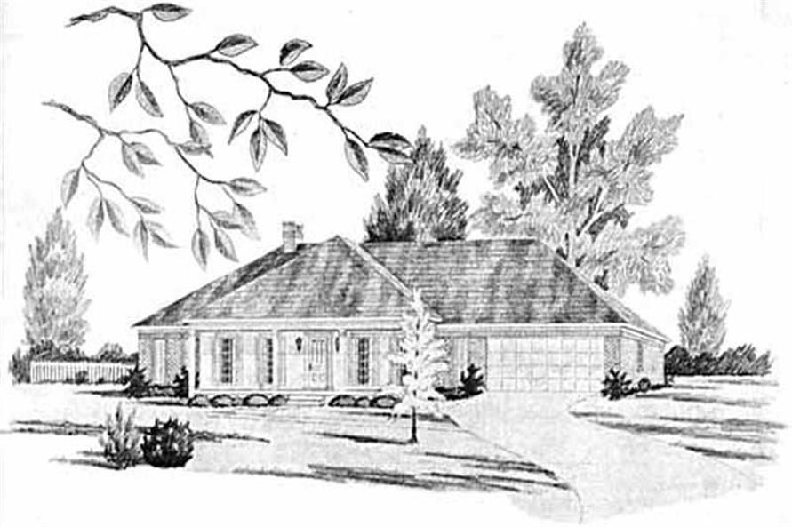 4-Bedroom, 2438 Sq Ft Ranch House Plan - 139-1062 - Front Exterior