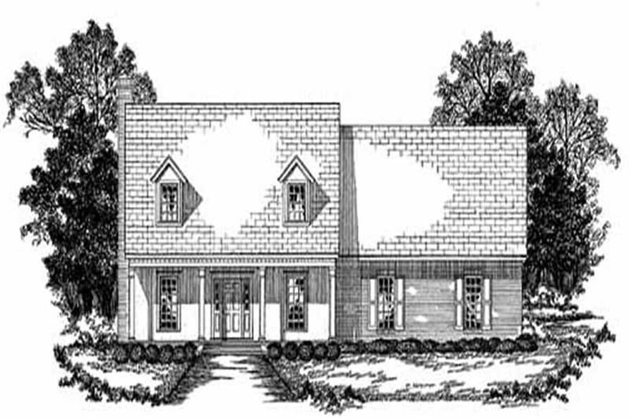 3-Bedroom, 2506 Sq Ft Country House Plan - 139-1064 - Front Exterior