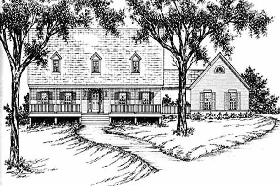 4-Bedroom, 2589 Sq Ft Country House Plan - 139-1065 - Front Exterior