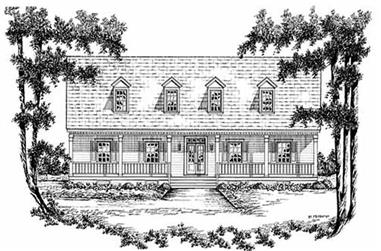 4-Bedroom, 2649 Sq Ft Country House Plan - 139-1066 - Front Exterior