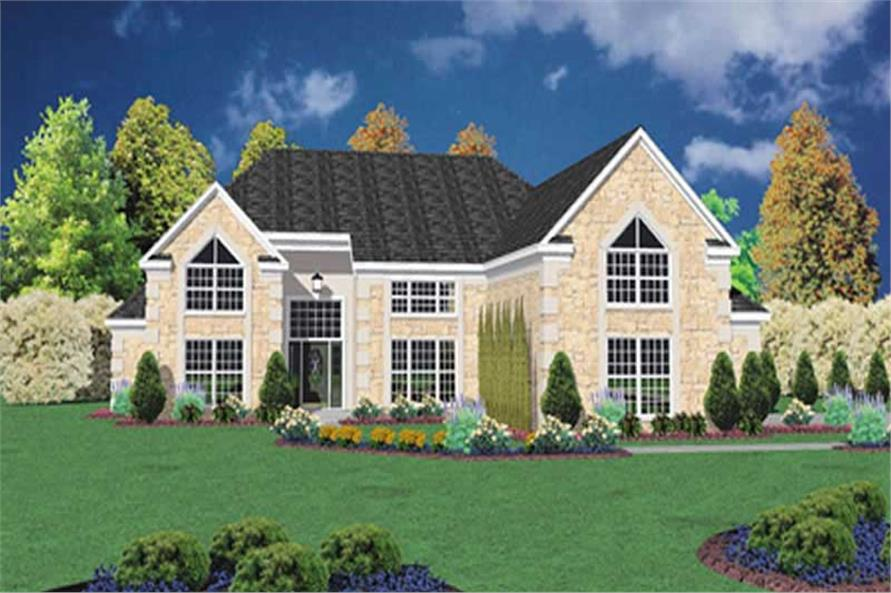 3-Bedroom, 2746 Sq Ft Contemporary House Plan - 139-1067 - Front Exterior
