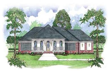 4-Bedroom, 3042 Sq Ft Ranch House Plan - 139-1068 - Front Exterior