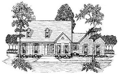 3-Bedroom, 3175 Sq Ft Country House Plan - 139-1070 - Front Exterior