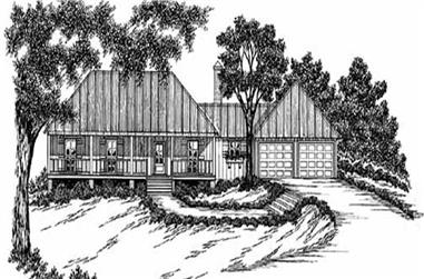 3-Bedroom, 1395 Sq Ft Country Home Plan - 139-1071 - Main Exterior