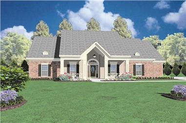 4-Bedroom, 2326 Sq Ft Ranch House Plan - 139-1074 - Front Exterior