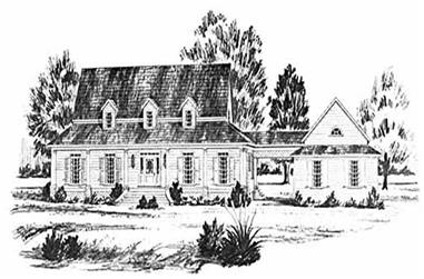 4-Bedroom, 2484 Sq Ft Country House Plan - 139-1076 - Front Exterior