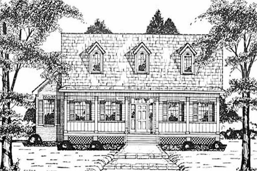 4-Bedroom, 2156 Sq Ft Country House Plan - 139-1077 - Front Exterior