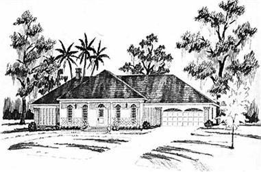 4-Bedroom, 2506 Sq Ft Mediterranean House Plan - 139-1078 - Front Exterior