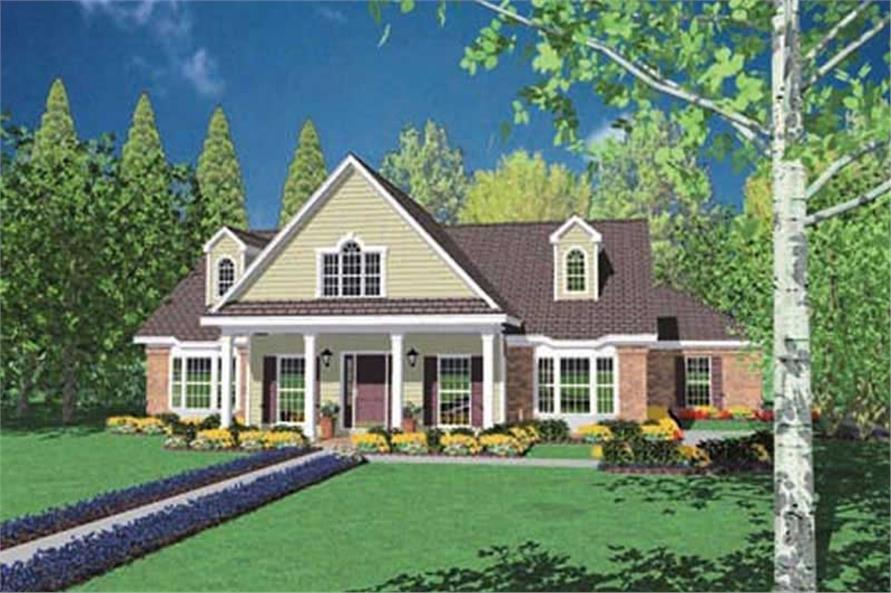 3-Bedroom, 2537 Sq Ft Colonial House Plan - 139-1079 - Front Exterior