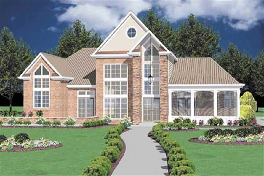 Front Elevation of this 3-Bedroom,2764 Sq Ft Plan -2764