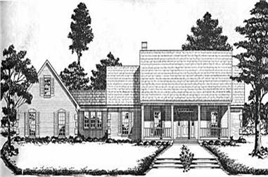 4-Bedroom, 2836 Sq Ft Country House Plan - 139-1081 - Front Exterior