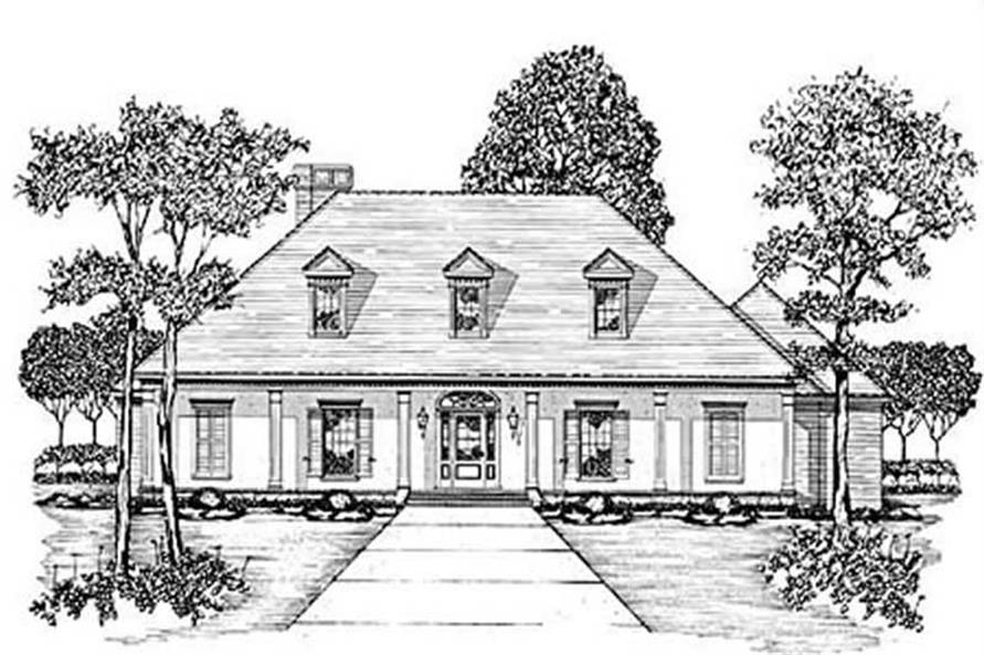 3-Bedroom, 2838 Sq Ft Country House Plan - 139-1082 - Front Exterior