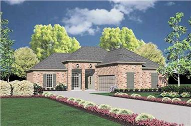 3-Bedroom, 1381 Sq Ft European Home Plan - 139-1083 - Main Exterior