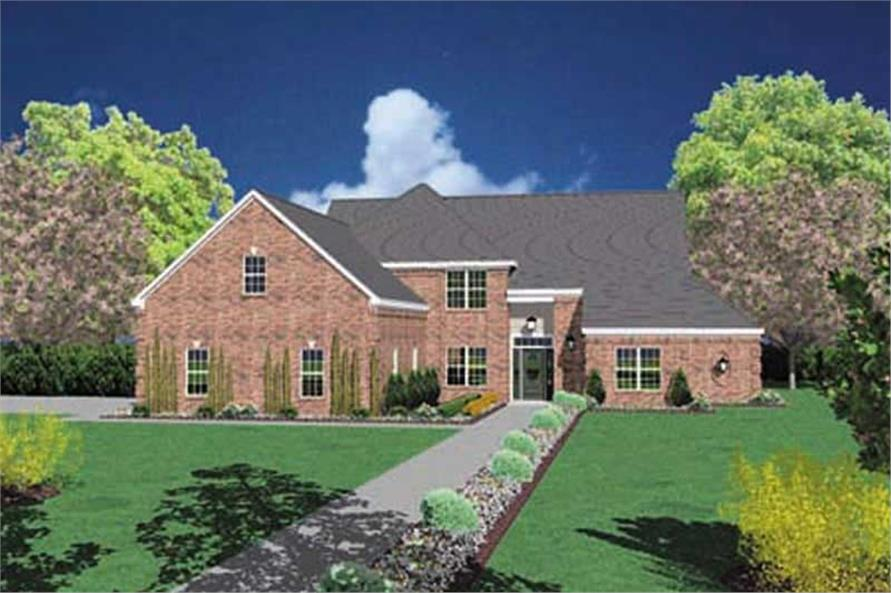 5-Bedroom, 2901 Sq Ft European House Plan - 139-1084 - Front Exterior