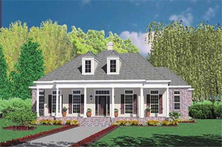 4-Bedroom, 3070 Sq Ft Country House Plan - 139-1086 - Front Exterior
