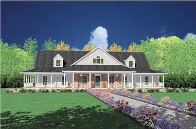 Front elevation of Country home (ThePlanCollection: House Plan #139-1089)
